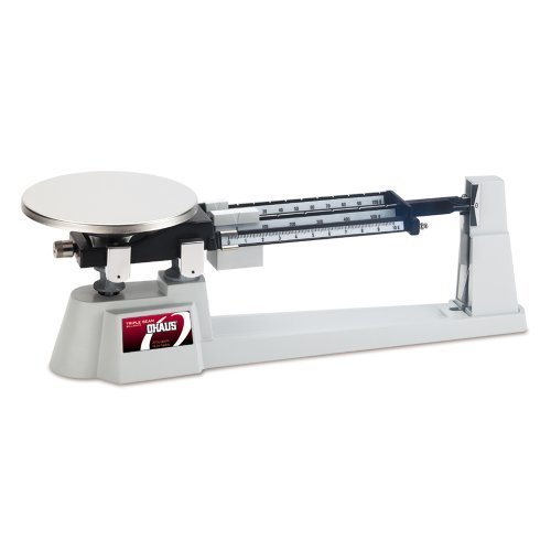 Ohaus 730-00 Triple-Beam Balance with Plastic Animal Container, 610g x 0.1g