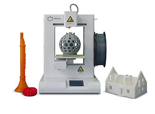 """Ideawerk WT200 3D Printer, 5.9"""" x 5.9"""" x 5.1"""" Build Area, White Printers Shenzhen Weistek Co., Ltd"""
