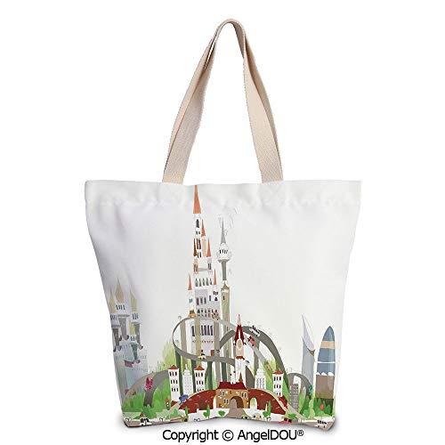 SCOXIXI Fantasy Decor printed Tote Schoolgirl Bag Ladies Shopper Canvas Bags Me