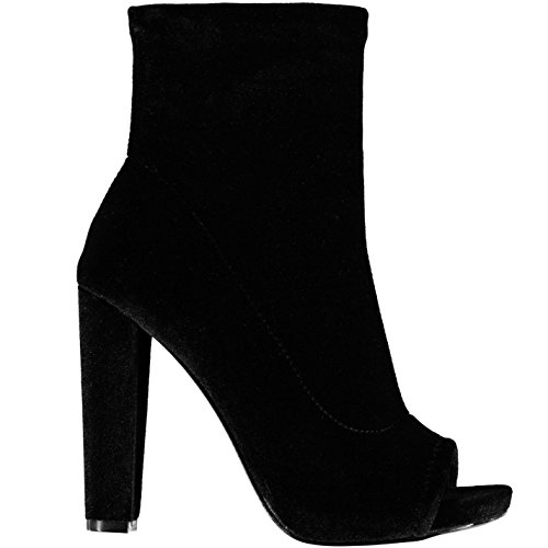 Steve Madden Mujer Especial Botas Zapatos Calzado Casual Tobillo Invierno Tercipelo Negro 38.5