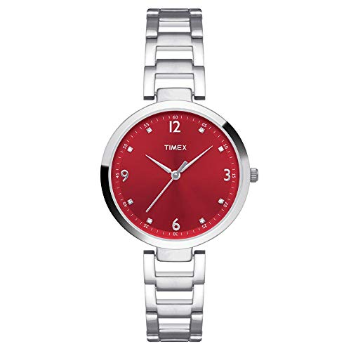 Timex Fashion Analog Red Dial Women's Watch   TW000X203