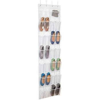 over the door clear shoe organizer storage rack home kitchen. Black Bedroom Furniture Sets. Home Design Ideas
