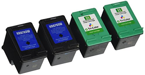 Unknown Remanufactured Ink Cartridge Replacement for HP C8765WN  C8766WN (Color, Black , 4-Pack )