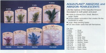 - Aqua Ornament Plant Artificial Penn Plax Plus - AMAZON SWORD