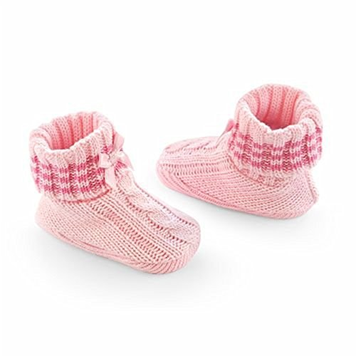 First Moments Cable Knit Baby Booties (Pink) Infant Girl Booties