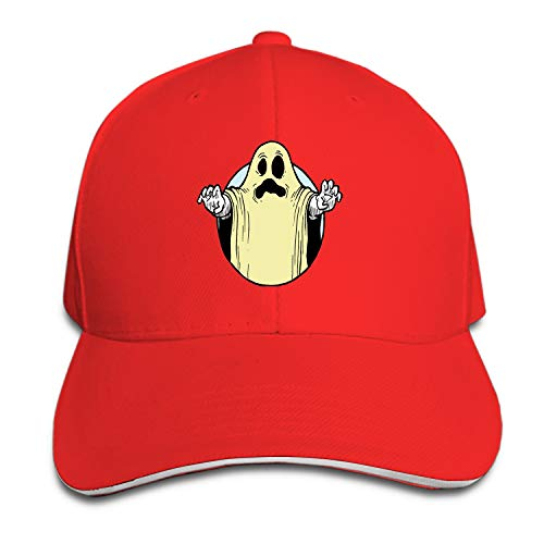 Fitch Forster Halloween-Ghost-Costume Adjustable Sandwich Baseball Cap Cotton Snapback Peaked hat -