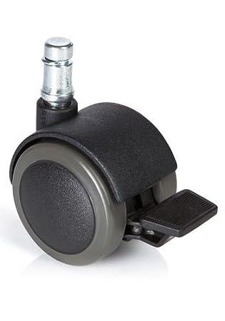 hjh OFFICE ROLO Stop Ruedas para sillas, Metal y plástico, Negro, 10.0x5.0x5.0 cm: Amazon.es: Hogar