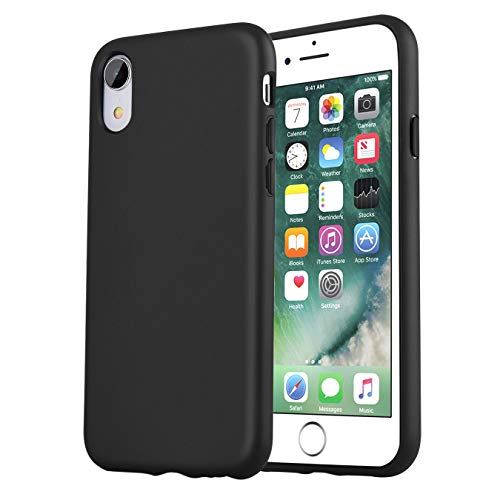 iPhone XR Case,Manleno Slim Fit Full Coverage 1.5mm Shockproof Protective Matte Cover Flexible TPU Rubber Silicone Case for iPhone XR 6.1