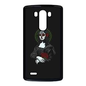 LG G3 Cell Phone Case Black VIVA LA MONA MUERTE LISA YW5970645