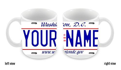 BleuReign(TM) Personalized Custom Name Washington DC License Plate 11oz Ceramic Coffee Mug