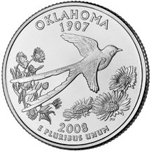 2008 D Oklahoma State Quarter Choice Uncirculated
