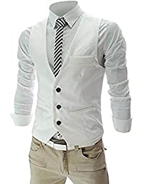 Men's Top Designed Casual Slim Fit Skinny dress Vest Waistcoat