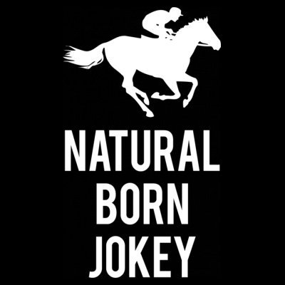 Sudadera con capucha de mujer Natural Born Jokey by Shirtcity Negro