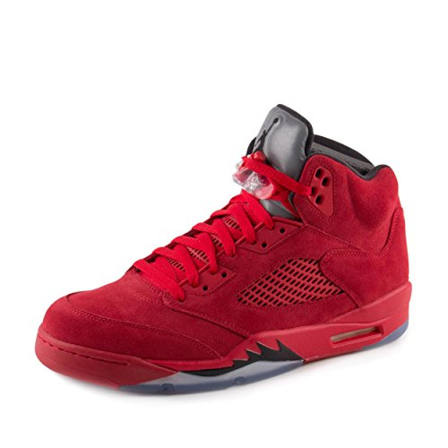 Nike Men's Air Jordan 5 Retro University Red/Black 136027-602 (SIZE: 11) by Jordan