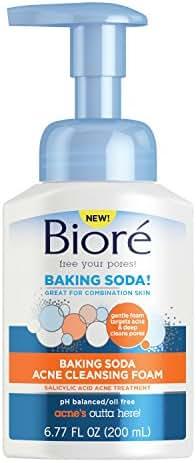 Facial Cleanser: Bioré Baking Soda Acne Cleansing Foam