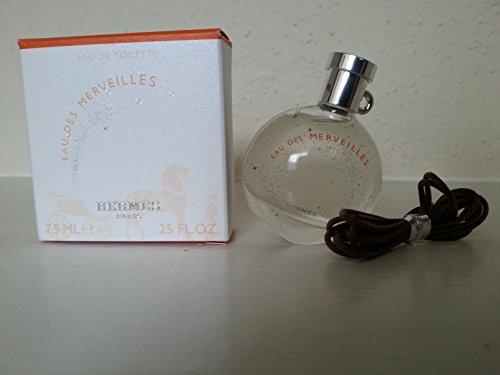 7.5 Ml Edt Splash (EAU DES MERVEILLES by HERMES EDT Women Perfume 7.5 ml 0.25 oz Splash MINI NIB)