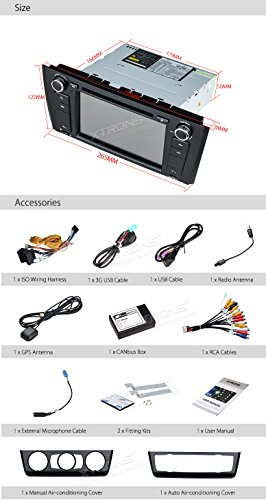 XTRONS 7 Inch HD Digital Touch Screen Car Stereo Radio In-Dash DVD Player with GPS CANbus for BMW 1 Series E81 E82 E88 2007-2014 Map Card Included by XTRONS (Image #8)