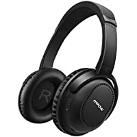 Mpow Active Noise Cancelling Bluetooth Headphones Over Ear, Stereo Wireless Headphones, Both Wired & Wireless Headphones w/ mic, Soft Protein Earpads Headphones for PC/ Cell Phones/ TV