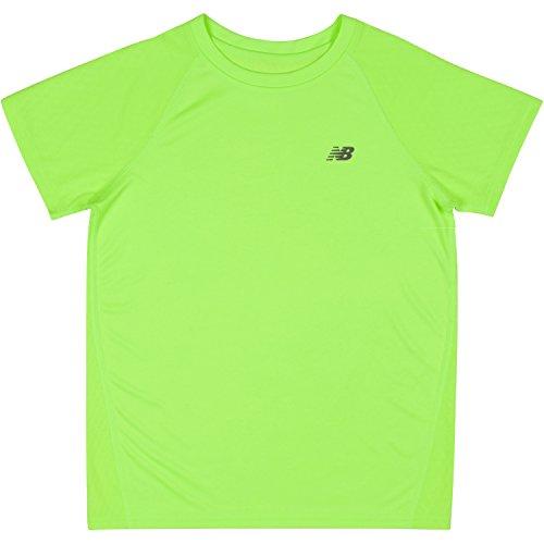 Youth Lime Green T-shirts (New Balance Big Boys' Short Sleeve Performance Tee, Lime Glo, 10/12)