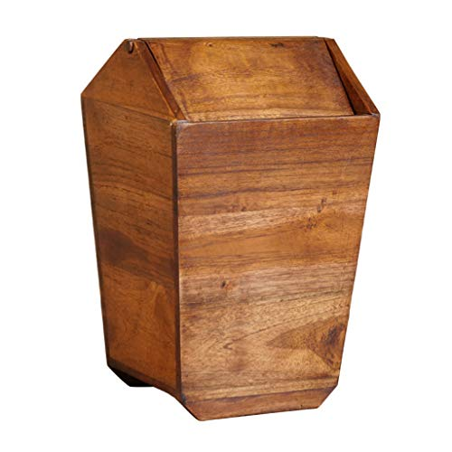 - Queen Boutiques Thailand Retro Creative Wooden Trash Can Home Living Room Bedroom Kitchen New Chinese Solid Wood Trash