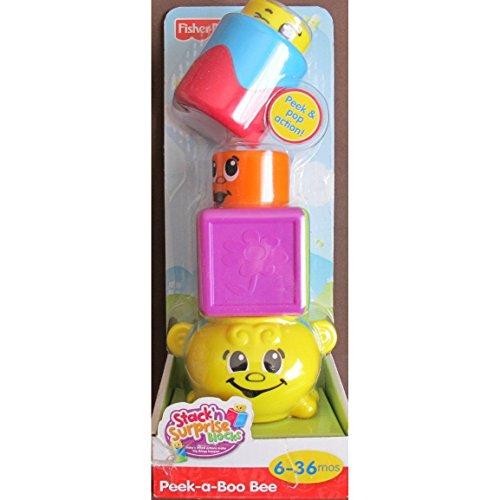 - Fisher-Price Stack 'n Surprise Blocks - Peek-a-Boo Bee
