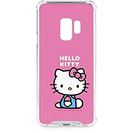 Skinit Hello Kitty Sitting Pink Galaxy S9 Clear Case - Sanrio - Skinit Clear Case - Transparent Galaxy S9 Cover