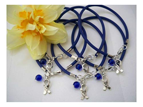 6 CT. Colon Cancer Awareness/Child Abuse Prevention 'Rubber' Bracelets