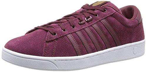 K-Swiss Women's Hoke Suede CMF Casual Shoe, Zinfandel/White, 8.5 M US