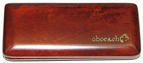 2-Reed Oboe Reed Case Wood (Stained)