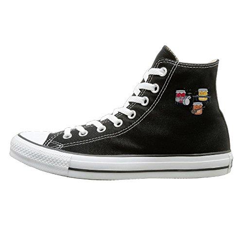 Edgar John Sushi Band Unisex Classic High Top Canvas Shoes Fashion Sneaker 43 ()