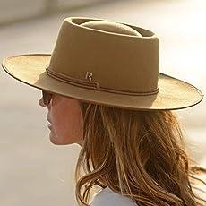 RACEU ATELIER Camel Billy Hat - Wide Brim Fedora Hat - 100% Wool Felt - Fedoras.
