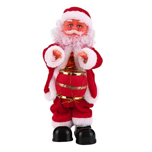Toys R Us Halloween Costumes 2016 (SUPPION Santa Claus Baby Soft Plush Toy Singing Stuffed Animated Doll Christmas Gift (B))