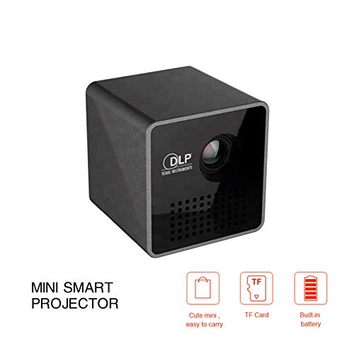 DZSF Mini Projector P1 Plus Portable Easy to Carry WiFi DLP Projector HD Projection Playback with TF Card,Supported 1080P