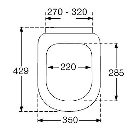 Pressalit/ /Asiento de inodoro con descenso autom/ático y de Lift Off; blanco; para Duravit Starck 3/inodoro