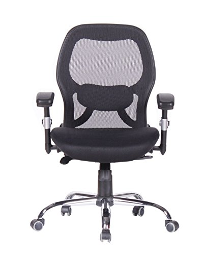 Cheap Magtec Mid-Back Office Chair with Breathable Mesh, Padded Height Adjustable Arms, Synchronic Mechanism, Black