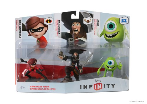 DISNEY INFINITY Figure 3-Pack: Sidekicks (Mrs. Incredible, Barbossa, and Mike)