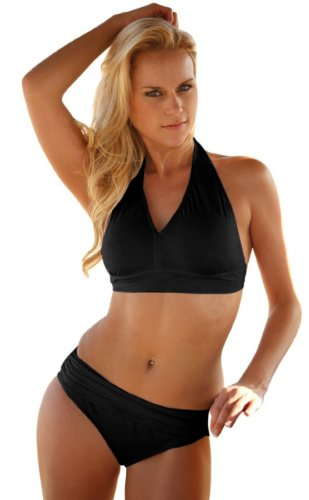 Manhattan Minimizer Bikini Swimsuit Swimwear Top Only - Matte Black