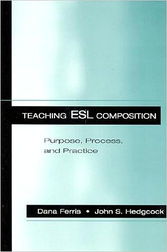 teaching l2 composition ferris dana r hedgcock john