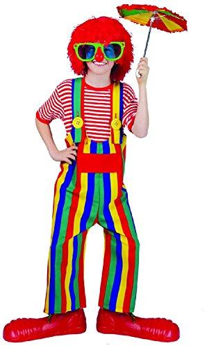 Striped Clown Overalls Costume - Large (Striped Clown Overalls Costume)