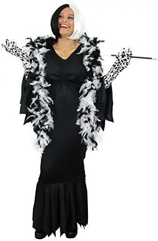 ILOVEFANCYDRESS Disfraz de Cruella de Vil para mujer (vestido ...