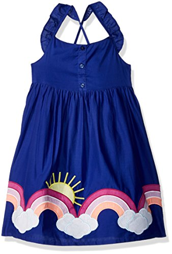 Gymboree Girls Dress - Gymboree Girls' Toddler Criss Cross Back Strap Woven Dress, iris, 5T