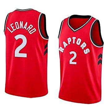 Dwin Maillots de Baloncesto para Hombre - NBA Camisetas Toronto Raptors #2 Kawhi Leonard Swingman Jersey de Malla sin Mangas Top de Chaleco Deportivo