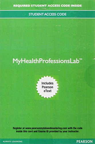 MyLab Health Professions with Pearson eText -- Access Card -- for Math Basics for the Health Care Professional