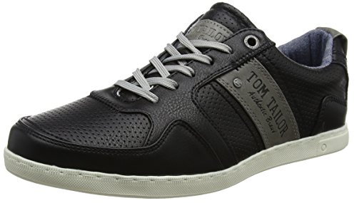 TOM TAILOR Herren 485100130 Sneaker Schwarz (Black)