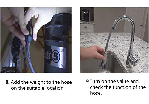 Replacement Hose Kit model number #150259 for Moen compatible with its any Pulldown Kitchen Faucets Sink Plumb Bathroom Fixture - with the hose part number #187108. by iFJF (Image #4)