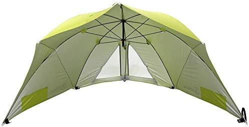 Homecall - Sombrilla refugio para la playa con ventana (verde): Amazon.es: Jardín