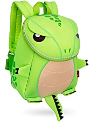 Green House Kids Backpack Green Dinosaur Charizard School Bag,10.69.13.7 Inch(Small)