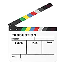 "Neewer 10""x12""/25cm x30cm Acrylic Colorful Director's Movie Film TV Cut Action Scene Dry Erase Slateboard Clapper Clapboard"