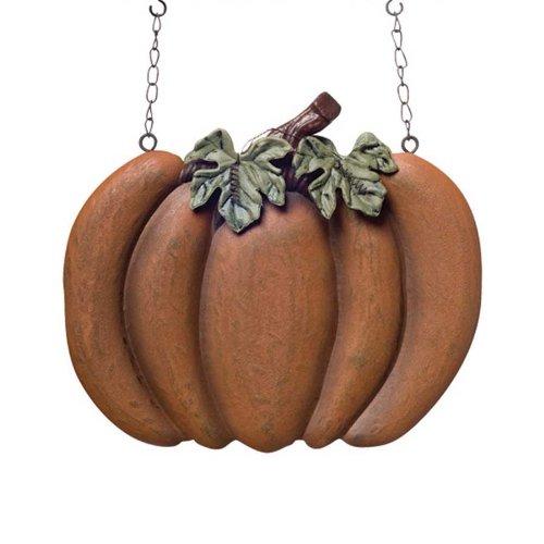 K&K Interiors Pumpkin Hanging Decorative Autumn Replacement Plaque for Arrow Holder