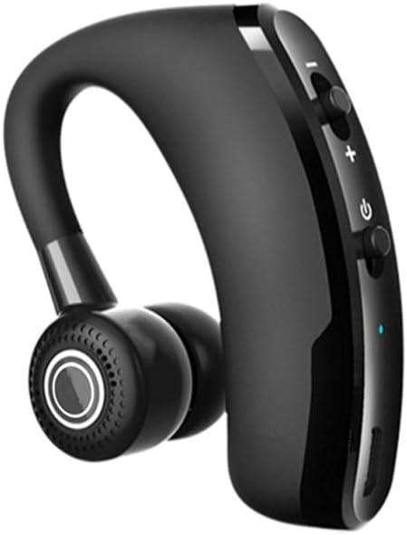 Runfon V9 Auricular inalámbrico de Control por Voz Música Deporte Auricular Bluetooth Manos Libres Bluetooth Headset Auriculares con cancelación de Ruido Auriculares Negro 1 Set